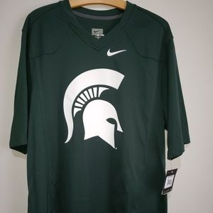 Nike Green & White Michigan State Spartans Jersey